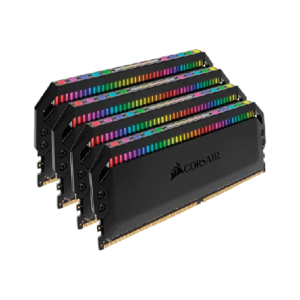 Corsair DOMINATOR® PLATINUM RGB 16GB (2 x 8GB) DDR4 DRAM 3600MHz C18 Memory Kit (Black)